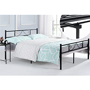 Amazoncom GreenForest Full Size Metal Bed Frame with Stable