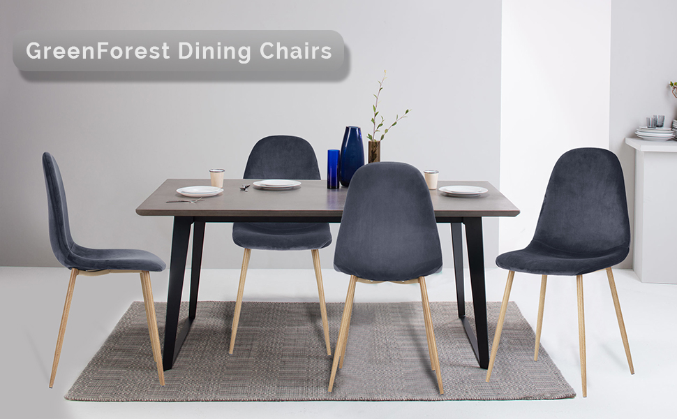 Amazon Com Greenforest Dining Chairs For Kitchen Elegant