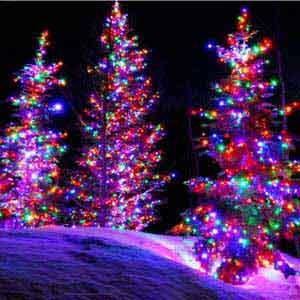 qedertek 200 led solar powered string lights 72ft colorful fairy decorative lights - Decorative String Lights