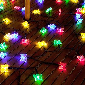 Qedertek Butterfly Solar String Lights 246ft 40 LED Waterproof