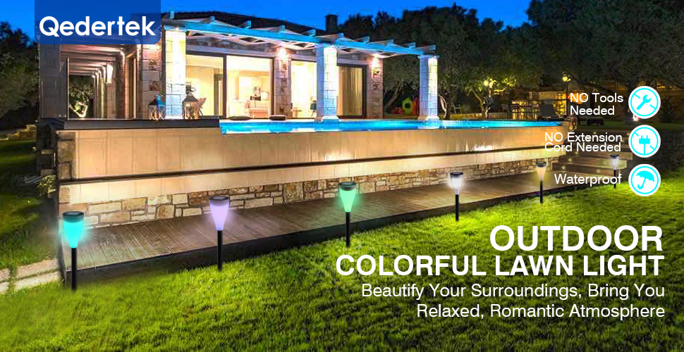 qedertek solor lawn light bring your garden vitality and bring your life interesting features solar powered landscape