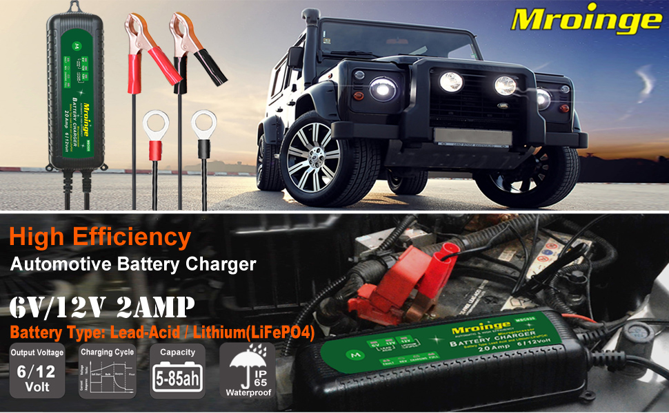 battery charger for motorcycle
