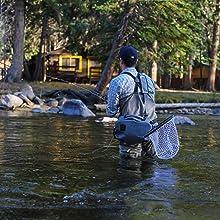 men fishing in the lake