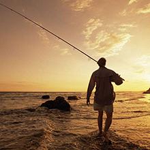 men beside the sea