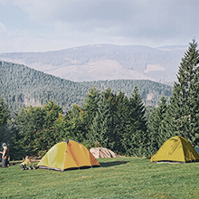 several tent on the ground