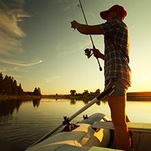 a men fishing