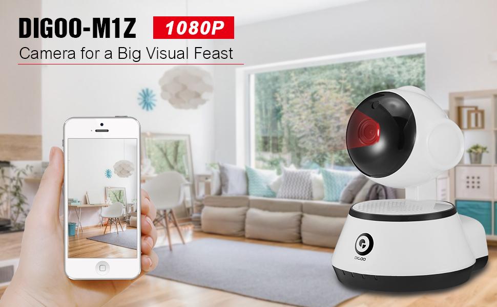 Amazon com : Home Security Camera, DIGOO-M1Z 1080P Wireless Wifi IP