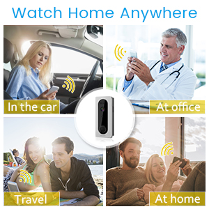 Wifi Video Doorbell, DIGOO SB-XYA 5 in 1 Ring Video Doorbell with Pir Motion Detection, HD 1080P Camera Image, Night Vision, Two-Way Talk, Phone Ring, Cloud Service Available, App Control