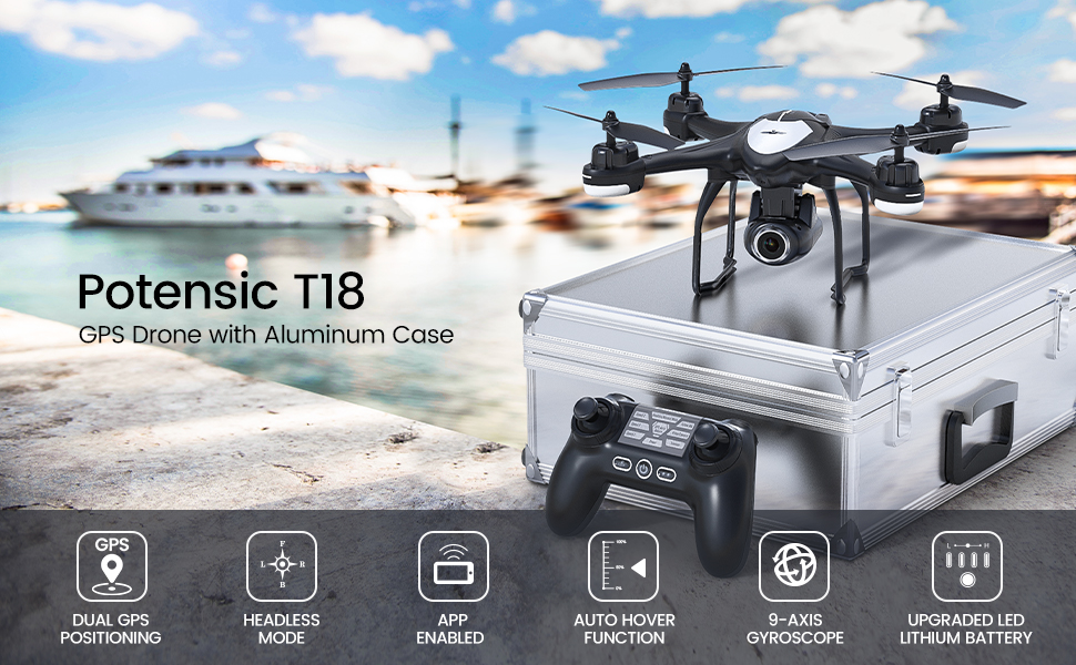 Potensic T18 drone with case