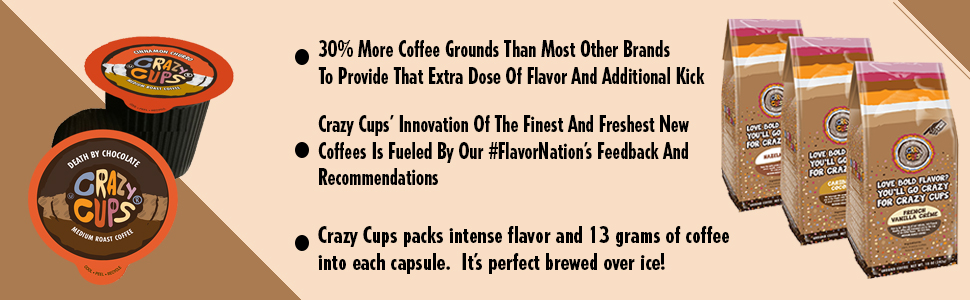 coffee, flavored, decaf, recyclable, gluten chocolate, keurig, k-cups