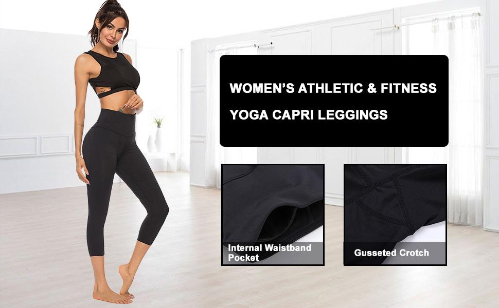 YOGA LEGGINGS RUNNING CAPRI PANTS ATHLETIC SPORTS PANTS