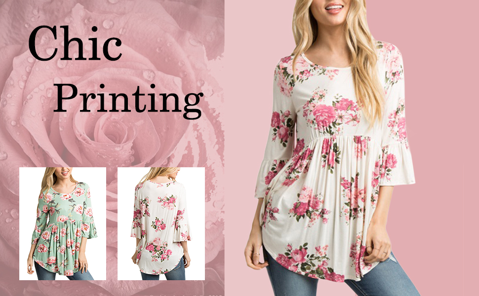 a6ee85310262c You will found you are so beautiful when wear this chic flower printed  blouse!