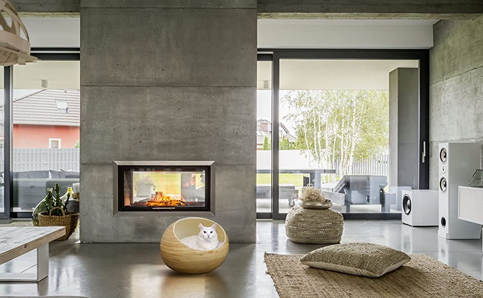 Amazon.com: Elegante cama para gatos Igloo – Cama de lujo de ...
