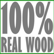 100% Real Wood