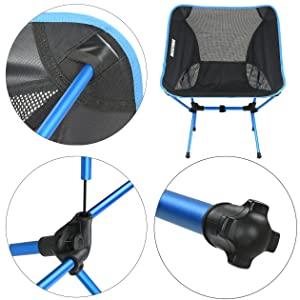 lightweight camping chair details