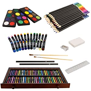 Amazon.com: U.S. Art Supply 143 Piece-Mega Juego de caja de ...