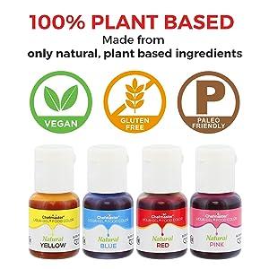 Amazon.com : U.S. Cake Supply 4 Color Liqua-Gel All Natural Plant ...