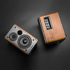 R1280DB black wood speaker music audio sound bass bluetooth remote contemporary classic