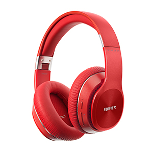 edifier w820BT bluetooth stereo headphones music comfort black red white gold foldable