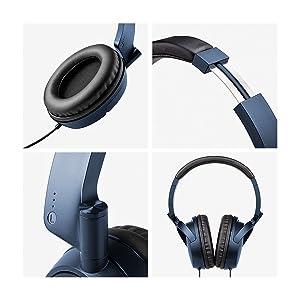 H840 black blue headphones music sound audio adjustable Phil Jones acoustic