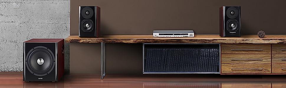 edifier bookshelf speaker audio