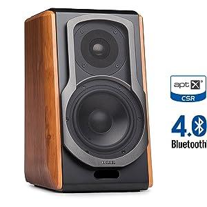 S1000DB wood speaker music audio sound bass remote bluetooth aptx