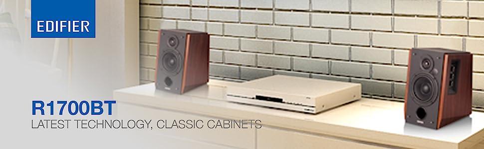 R1700BT wood music audio sound speaker bass bluetooth remote