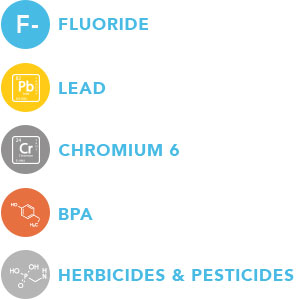 Fluoride, Lead, Chromium 6, BPA, Water Filter