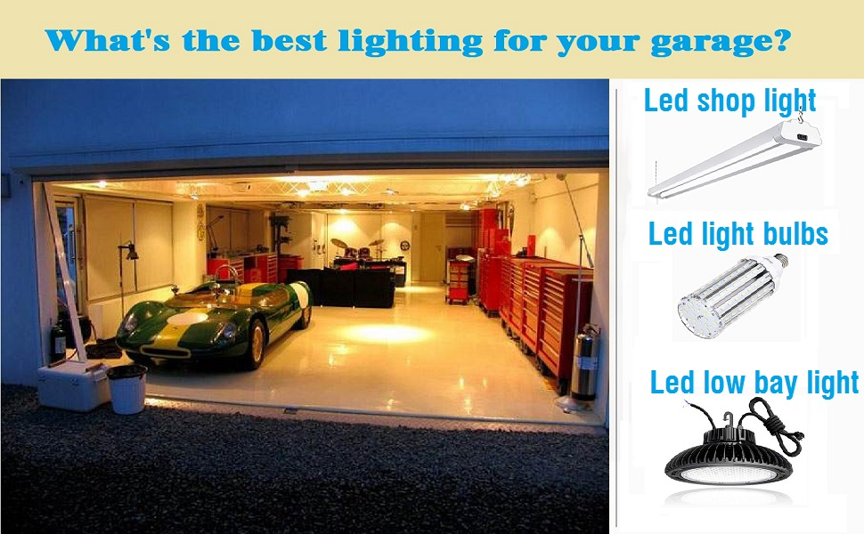 Garage ceiling lights led shop light for garage indoor motion sensor motion activated lights
