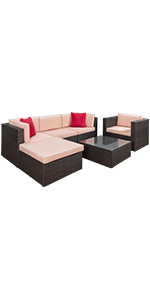 6 Pieces  Sectional Sofa