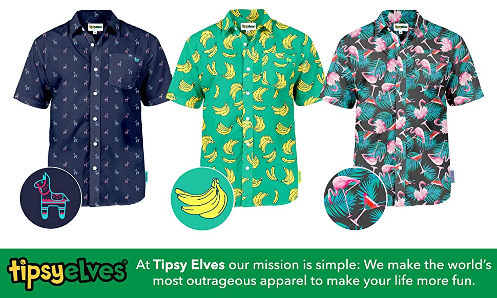 2c7b40d8 These Tipsy Elves Hawaiian Shirts are designed from the ground up. Pairing  perfectly with matching board shorts and swim trunks you can create the  perfect ...