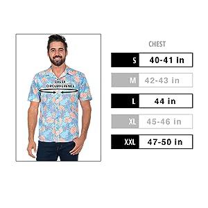 0eb594a6 Amazon.com: Men's Bright Hawaiian Shirt for Spring Break and Summer ...