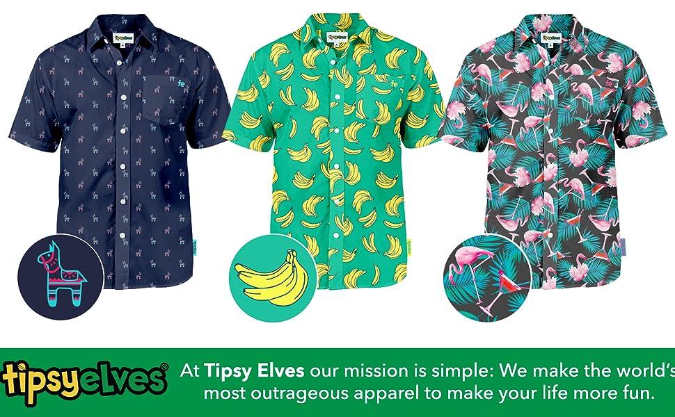 1ef6fe76 Amazon.com: Men's Bright Hawaiian Shirt for Summer Aloha Shirt for ...