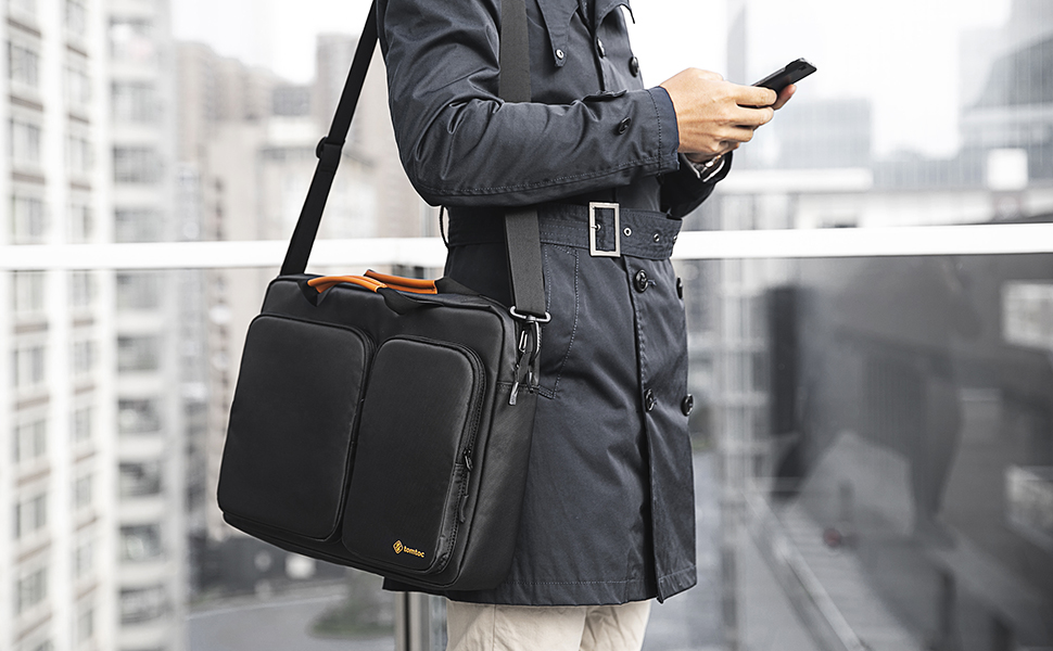 TOMTOC 15.6 MESSENGER BAG