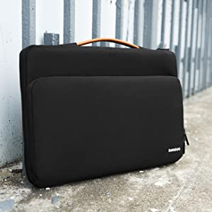 Tomtoc 360 protective laptop sleeve case bag fit for 15 15 6 inch hp dell asus acer for Dell inspiron i7559 7512gry interior design laptop