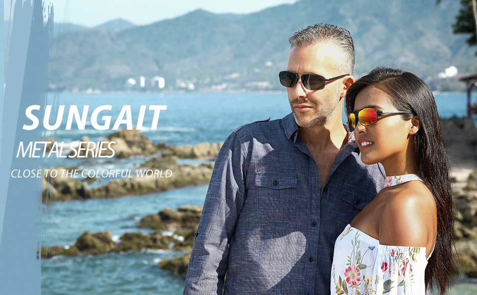 SUNGAIT metal series sunglasses - close to the colorful world