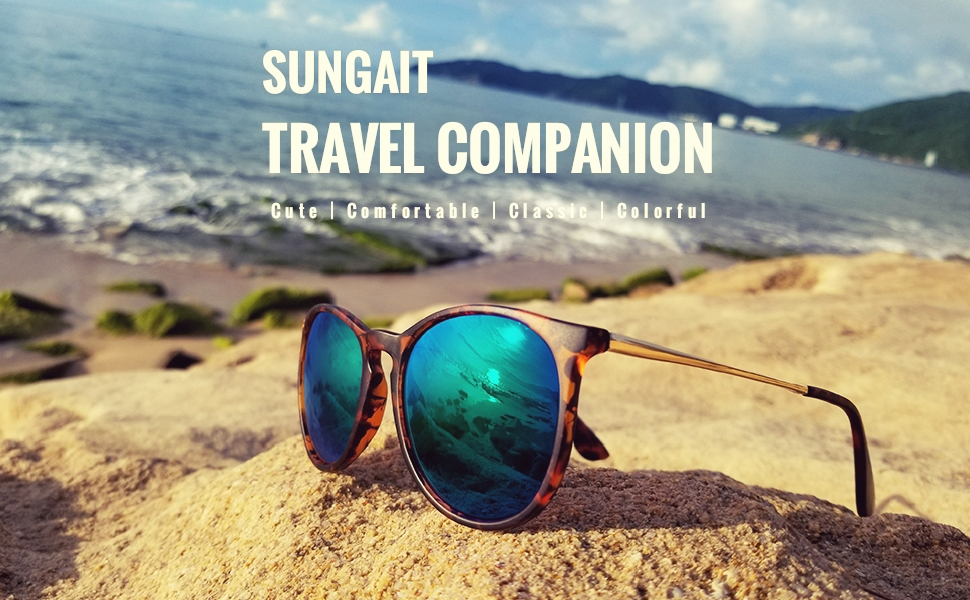 SUNGAIT Sunglasses - Cute Comfortable Classic Colorful