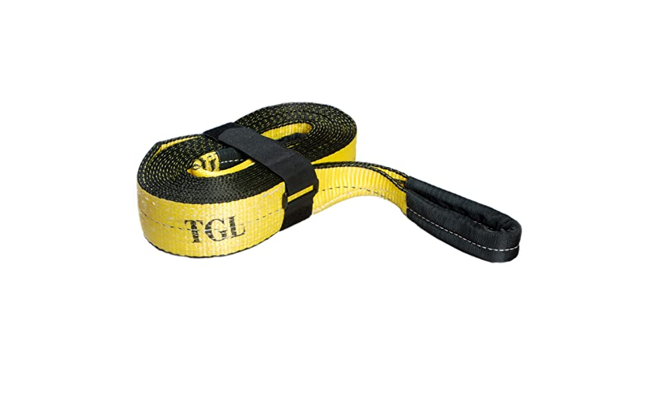 30,000 Pound Tow Strap with 2-Pack of 3//4 inch D Rings TGL 3 inch 20 Foot