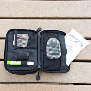 cold pax ice pack diabetic bag loadout insulin blood glucose storage syringes double sided