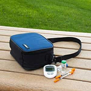 elite diabetes travel bag supplies insulin lancets pens syringes storage case best diabetic glucose