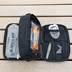 chillmed diabetic bag loadout insulin blood glucose monitors lancets storage syringes double sided