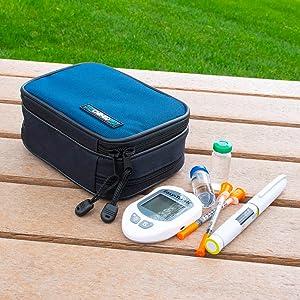 Type 1 diabetes travel bag supplies insulin lancets pens syringes storage case best diabetic glucose