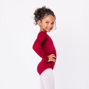 abfc1dd172 Amazon.com  Leotard Boutique Long Sleeve Leotard for Dance ...