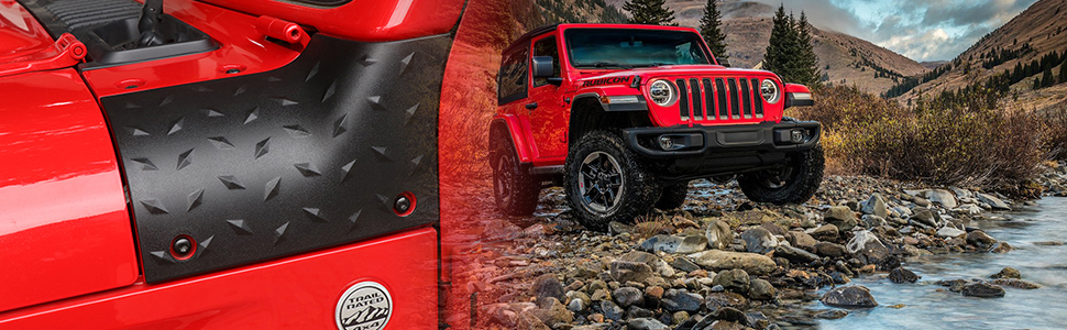 Body Armor Outer Cowling Cover for Latest 2018-2019 Jeep Wrangler JL