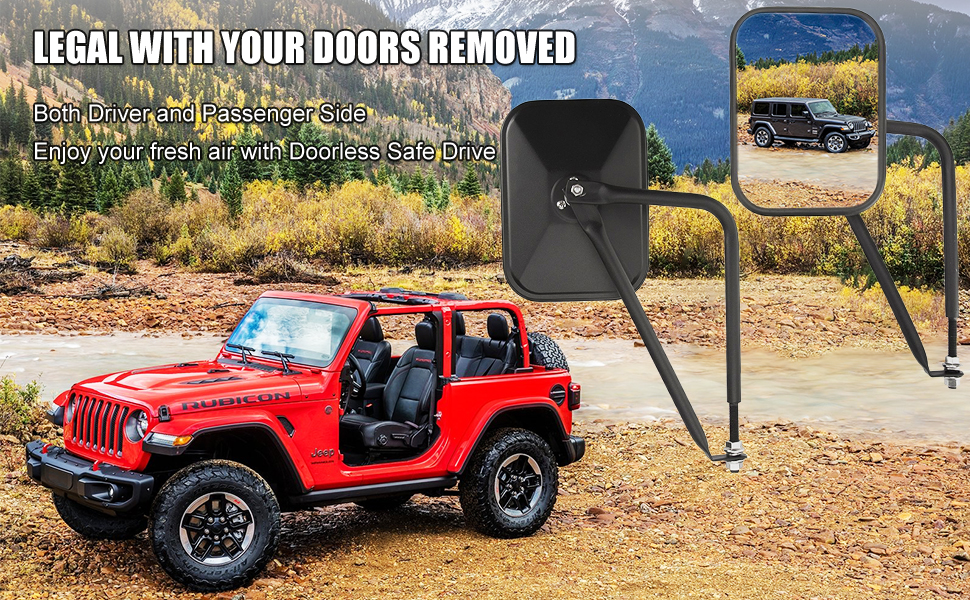 Jeep Wrangler Door Hinge Mirror