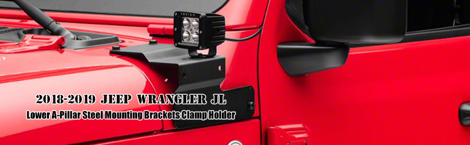 led light bracket for 2018 jeep wrangler jl