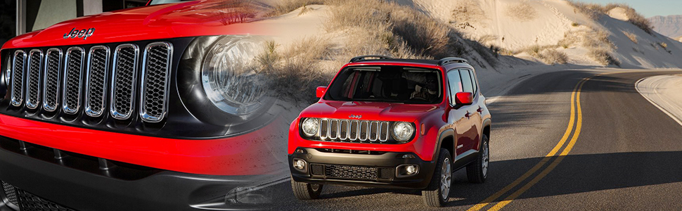 Chrome Front Grille Insert for Jeep Renegade 2015-2018