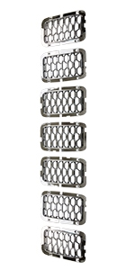 Honeycomb Chrome Grill Inserts for Grand Cherokee 2017 2018 2019