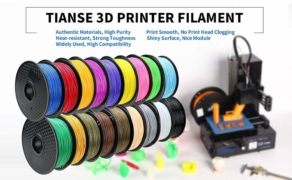 3d Printer Filament >> Amazon Com Tianse Red Pla 3d Printer Filament 1 Kg Spool 1 75 Mm