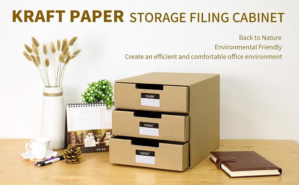 TIANSE Magazine File Drawer Holder Organizer Box Holder Adhesive Labels  (Pack Of 3)